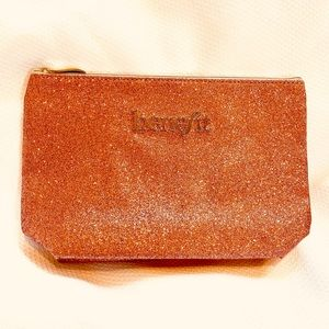 "Make up-toiletry bag clutch ""Benefit"" pink glitter"